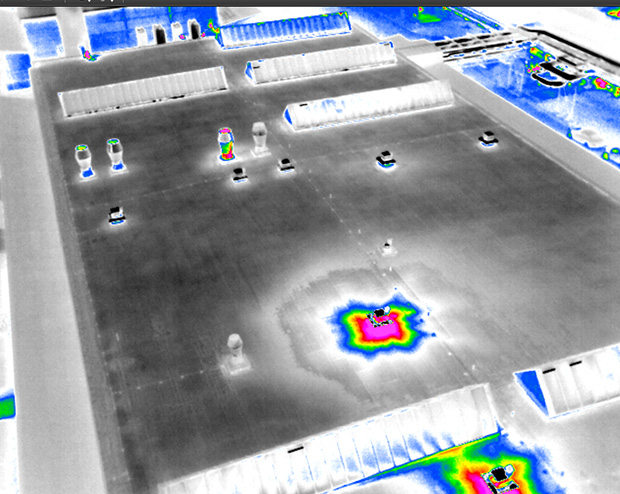 Drone Infrared Imaging Scans